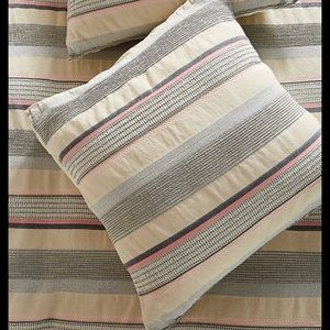 New Anthropologie Woven Camila Euro Sham Stripe